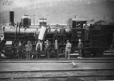 Ozubnicový rušeň v roku 1919