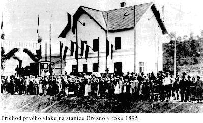 Príchod prvého vlaku do stanice Brezno v roku 1985